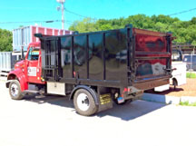 Iroquois Dump Body with High Sides,  Split Load Divider/Separator,  and Rear Three Way Tailgate